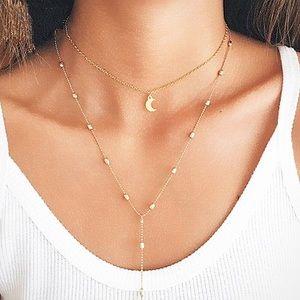 Jewelry - 4 for $25✨Moon choker tassel necklace
